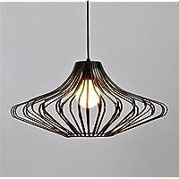 PC industriale Vintage Bird Cage illumina Ciondolo lampada Paese americano Loft Restaurant Ciondolo lampadario per sala da pranzo Lampen,Dia 50cm