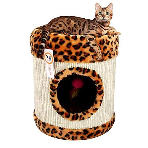 PIKVV Katze Schleifen Klaue Kratzbaum Aktivität Zentrum Wohnung Katze Bett Hängen Spielzeug Pet Lounge Spielen Klettern Unterhaltung Liefert Wohnkultur 13,8x13,8 (Katze Wohnung Und Kratzbaum)