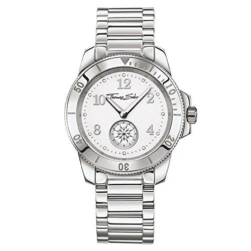 Thomas Sabo braccialetto da donna orologio Glam chic analogico al quarzo taglia unica, colore: bianco, argento