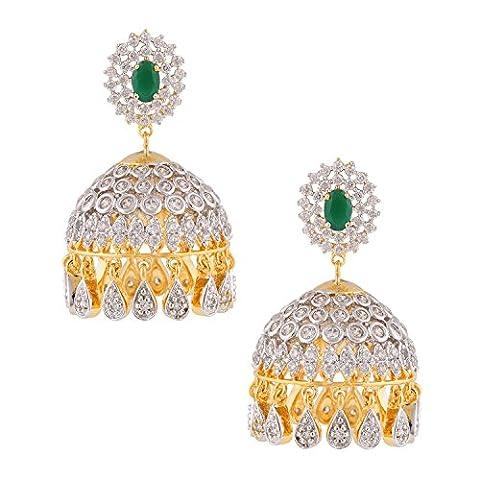 Somma Argent 925fait avec Swarovski Marcassite Dangle Boucles d'oreilles pendantes pour femme