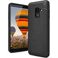 Samsung Galaxy A6 2018 Funda, FindaGift TPU Suave Ultra Delgado [Inastillable][A prueba de choques][Protección completa] Bumper A prueba de huellas Back Cover con base antideslizante para Galaxy A6 2018 (Negro)