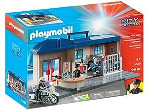 Playmobil- Comisaría Maletín Juguete, (geobra Brandstätter 5689)