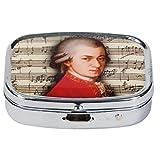 Fridolin 18271 Mozart Boîte à Pilules Métal Multicolore 5,1 x 3,6 x 1,8 cm