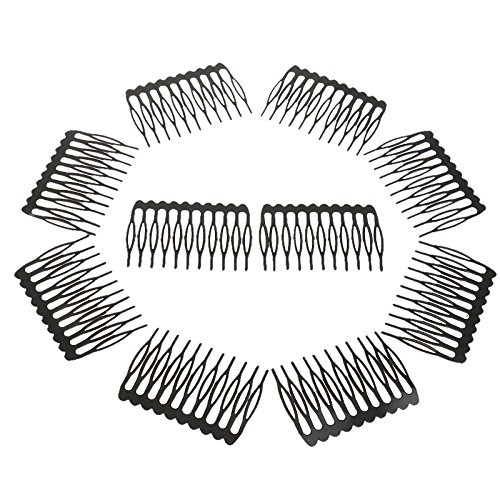 Gazechimp Set De 10x Peignes Cheveux En Métal Accessoire Coiffure Beauté Pièce Bébé Femme Haute Qualité