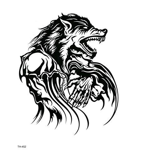 chte Werwolf Temporäre Tätowierung-Aufkleber Tätowierung Christian Kind Tattoo Body Art Tattoo Art Tattoo-Aufkleber ()