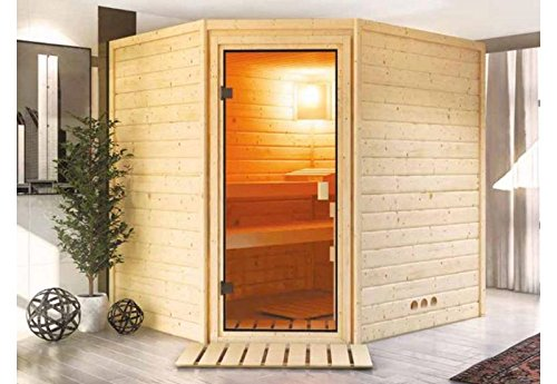 Karibu Woodfeeling Massivholzsauna Aurel 38 mm
