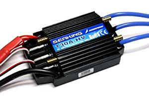 HOBBYWING SEAKING 130A HV High Voltage RC Model Ship Brushless Motor ESC SL169 with RCECHO Full Version Apps Edition