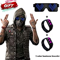 RICISUNG LED Glasses Party, Neon Flashing Led Light Up Shutter Funny Cool Glasses Eyeglasses Eyewear for Parties,Christmas,Halloween,Concerts,Clubbing,Festival,Raves