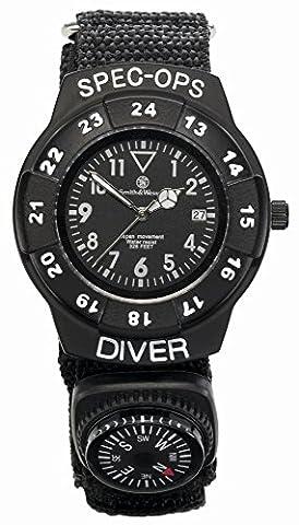 Smith wesson special ops &de montre avec bracelet en nylon et boussole et couteau de poche (wEEE dE93223650–numéro de référence