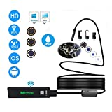 DVCZ USB Endoskopkamera HD 1200P IP68 Halbstarre Röhre Endoskop Wireless WiFi Endoskop Video Inspection Für Android/Ios 2 M
