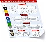 0480 Lot de 12 autocollants pour vélo BTWIN, Bianco cod. 010