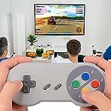 XCSOURCE® USB 2pcs SNES Classic super Nintendo Regulador del juego de Gamepad para Windows PC / MAC Negro AC560