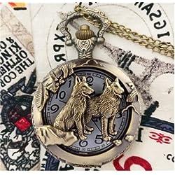 Großhandel tuba Zodiac taschenuhr retro - kette gedenk - Sammlung Bronze taschenuhr Frau Mann geschenke - Tisch