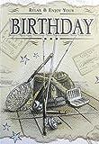 Nostalgisches Geburtstagskarte. Angeln Design.