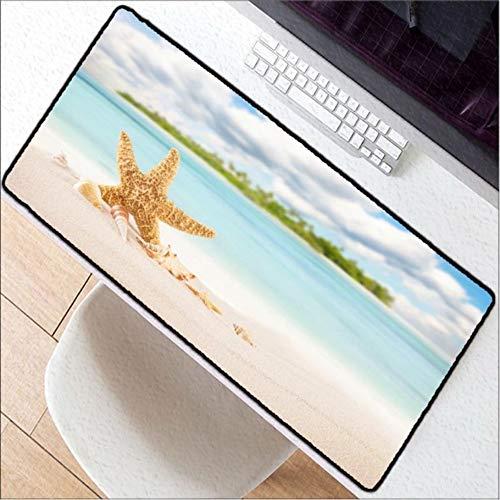 (Lbonb Drucken Verschlusskante Mousepads Für Strand Und Seestern Mäuse Matte Diy Design Muster Computer Gaming Große Mauspad 70 * 30 Cm)