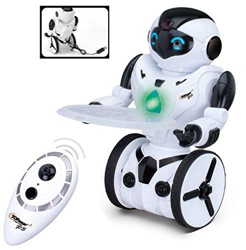 Top Race RC-Fernbedienung Spielzeugroboter, intelligenter selbstausgleichender Roboter, 5 Betriebsarten, Tanzen, Boxen, Fahren, Laden, Geste. 2,4 GHz Sender. TR-P3 (Box Roboter)