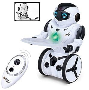 Top Race Control remoto RC Robot de juguete, Robot de equilibrio inteligente, 5 modos de funcionamiento, Baile, Boxeo, Conducción, Carga, Gesto. Transmisor de 2,4 GHz. TR-P3
