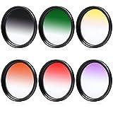 XCSOURCE 58mm abgestuftes Farbfilter Filter Set für Canon EOS 60D