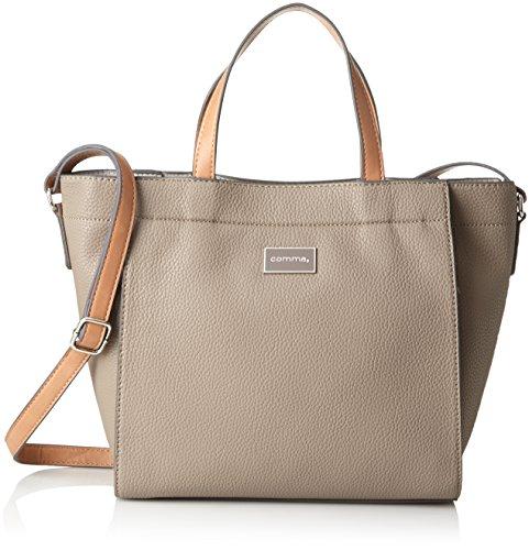 comma Damen Beautiful Smile Handbag Lhz Handgelenkstasche, Violett (Taupe) 14x27x38 cm