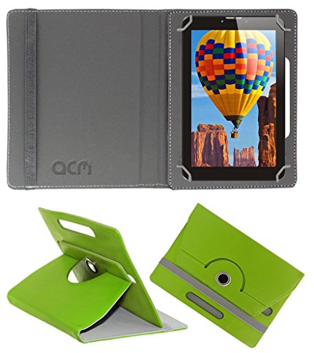 Acm Rotating 360° Leather Flip Case for Tescom Bolt 3g Cover Stand Green  available at amazon for Rs.149