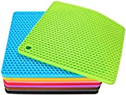 4 Pack Silicone Pot Holder Trivet Mats Hot Pads Spoon Rest for Hot Dishes Heat Resistant