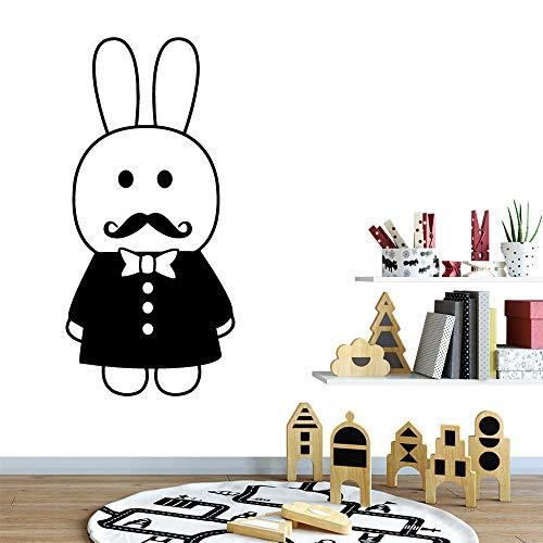 Preisvergleich Produktbild ziweipp Beauty Mr. Rabbit Wandtattoo Wohnzimmer Removable Home Decoration Zubehör Für kinderzimmer Wandtattoo muursticker 30 * 63 cm