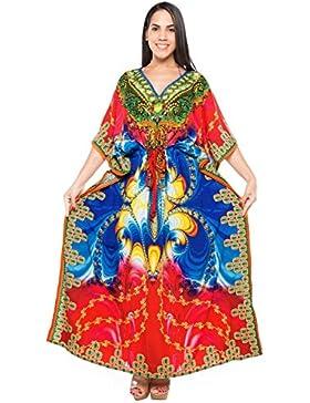 *La Leela* Donne Liscia Veste Likre Kimono Più Il Vestito Di Cachemire Maxi Caftano Coprire