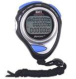 Cronometro digitale display a tre file atletica corsa cronometro con 80lap memory split tempo per sport e per allenatori arbitri