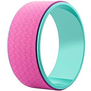 REEHUT Yoga Rad, Stabiler und Rutschfester Yoga Wheel Rolle mit E-Anleitung bei Dharma Yoga Asanas Posen für Dehnübung, Rückbeugen, Flexibilität, Belastbarkeit bis 200KG