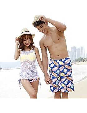 Conjuntos de Bikini Sexy traje de baño Trajes de Baño Hombres adelgazamiento pantalones Playa + hombres, parejas...