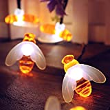Gaddrt Button Cell Powered Fairy Lights Bee Lights Striking with 10 LED Beads for Curtain House Party Decor