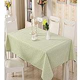 BH-JJSMGS, Nappe en Lin pour Table à Manger Cuisine rectangulaire, Motif de Plaid Vert créatif Nappe rectangulaire Nappe140 * 250cm