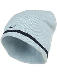0c96cd5530b Adults Nike Double Knit Warm Sky Blue with navy stripe Beanie Hat 591698-499