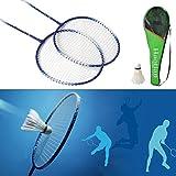 Shalleen New 1 Pair Badminton Racket High-strength Aluminium Alloy Racquet Bag Badminton
