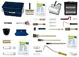 Renovier - Set 36 teilig zum Abdecken, Glätten, Füllen, Tapezieren und Farb-, Lack-, Lasurauftrag