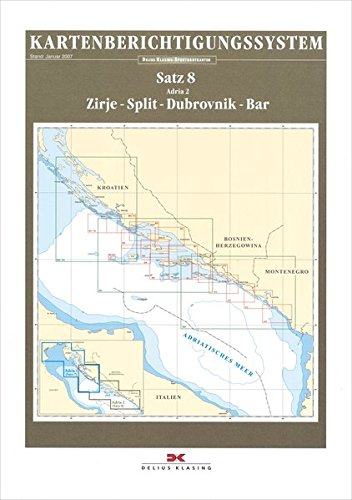 Preisvergleich Produktbild Sportbootkarten-Berichtigung Satz 8 (2016): Adria 2: Zirje- Split - Dubrovnik - Bar