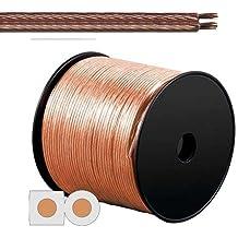 Cable para altavoz (2x 2,5mm², transparente, bobina de 100m
