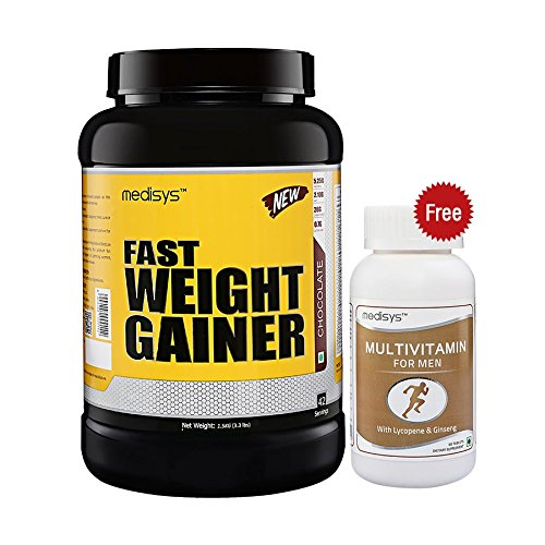 Medisys Fast Weight Gainer - Chocolate - 1.5Kg [Free-Multivitamin]