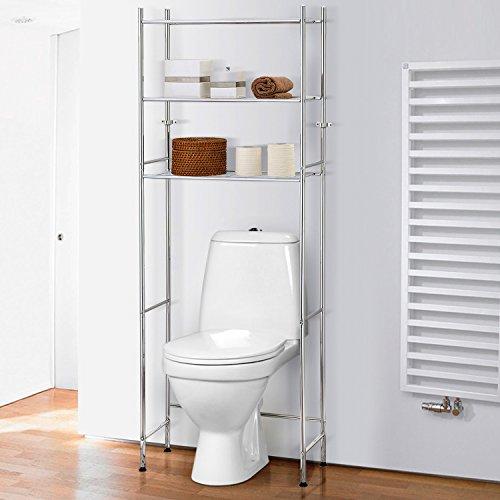 Tatkraft Roomy Meuble WC Etagères de Salle de Bain ou Machine à Laver 61X27X170H cm