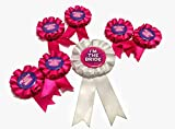 #6: Happenings Beautifully Crafted Bride To Be With Bride Badges For Bachelorette party-Pink