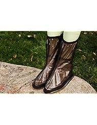 &zhou Hommes et femmes montés sur une couverture de chaussures, housse de chaussure imperméable à l'air respirant à bicyclette, housse de chaussure de désert, bottes de pluie neutres