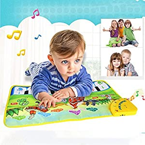 Piano Mat, Musical Carpet Toddler Baby Activity Gym Play Mats ,Fairylove Baby Early Education Coolplay Music Piano Keyboard Blanket Touch Play Safety Learn Singing funny Toy for Kids from Fairlove