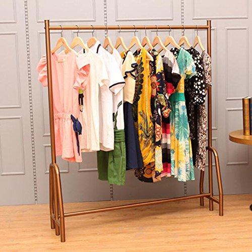 HAIZHEN Lagerregale Einfache Garderobe  Kleiderständer Mehrfarbig  Für Frauen Bekleidungsgeschäft  L120cm * W40cm * H140cm Starke Stabilität ( Farbe : Bronze ) (Garderobe Für Frauen)