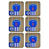 Official PERSONALISED Brighton & Hove Albion FC Dressing Room Coasters 6 Pack - FREE PERSONALISATION