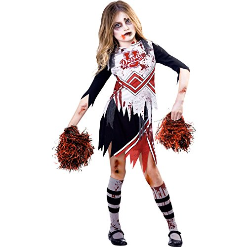 Kostüm Kind Cheerleader - Zombie-Cheerleader Halloween Kostüm Kinder Mädchen Amscan