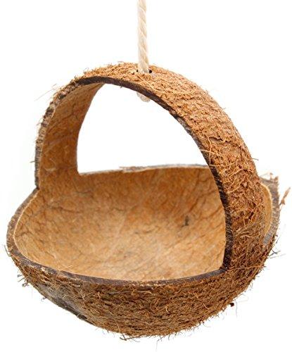 Tolle Kokosschaukel. Natur- Vogelspielzeug mit Suchtgefahr für Wellensittich &Co. im Vogelkäfig