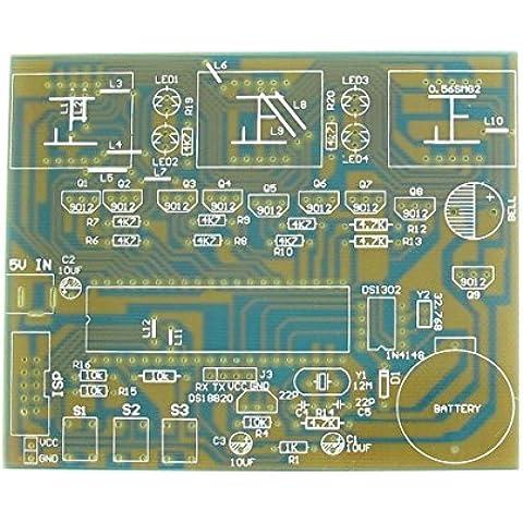 PCB DS1302 MCU Módulo electrónico reloj digital 100mmx83mm la tarjeta en blanco