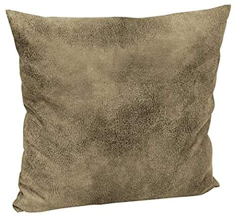 Tabago Cushion Cover Approx. 50 x 50 cm Leather Effect Realistic and