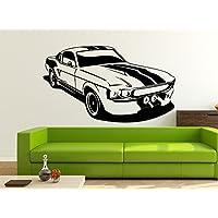 Adesivo da parete 1967Ford Mustang GT 500, Vinile, nero, X-Large
