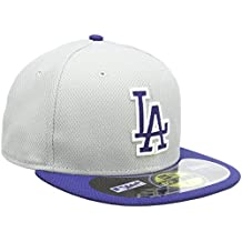 cb3c71676507f Diamond Era Los Angeles Dodgers Road Fitted Cappellino Grigio